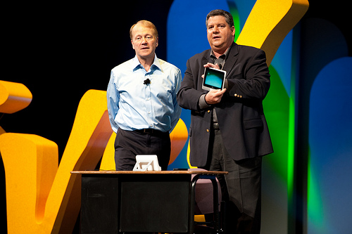 Cisco Chairman and CEO John Chambers and Jim Grubb, Cisco's Chief Demo guy