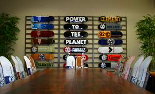 Element Skateboards Board Room
