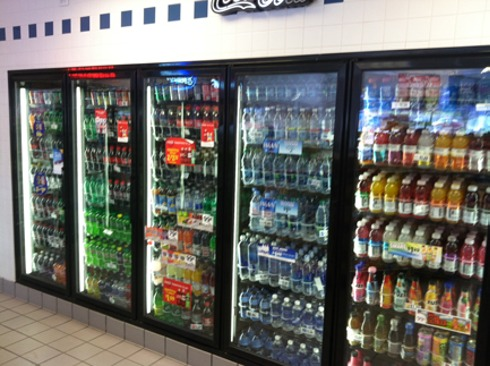 Convenience Store Drink Cooler