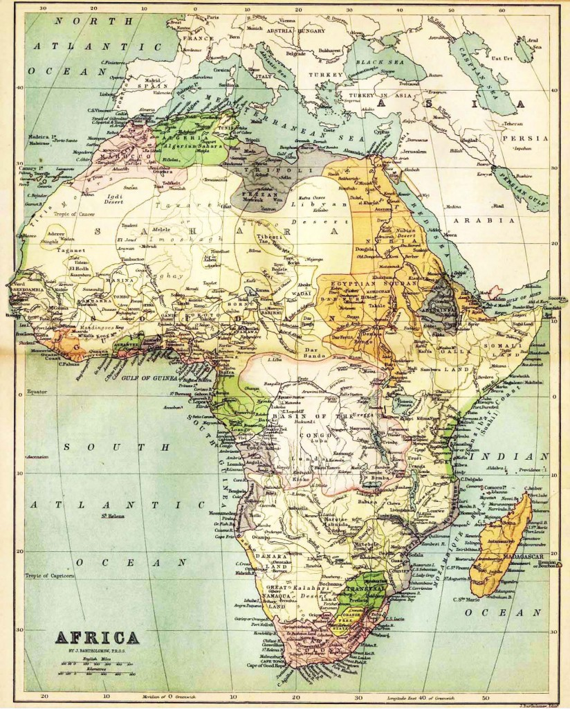 Map of Africa 19th Century