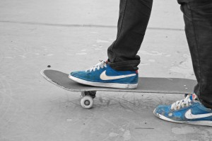 Nike SB Bruins Blue skateboarding shoe