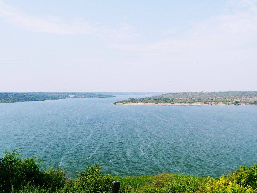 Lake Edward in Queen Elizabeth National Park, Uganda